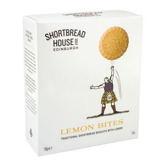 Shortbread de Limón de Sicilia 150gr. Shortbread House of Edinburgh. 8 Unidades
