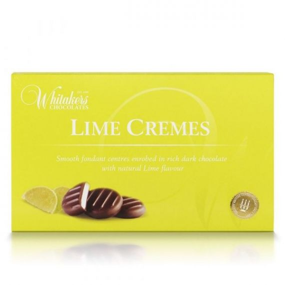 Lime Cremes 150gr. Whitakers Chocolates. 14 Unidades