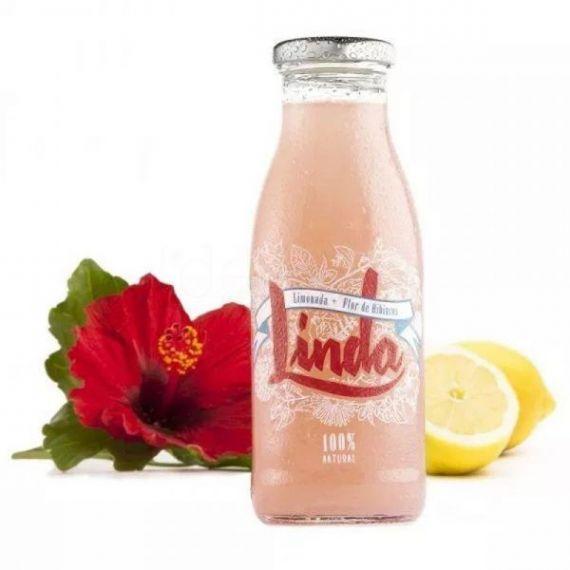 Linda Limonada (limonada + flor de hibiscus) 250ml. Linda. 24 Unidades
