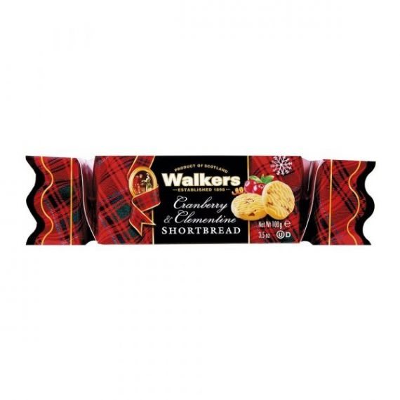 Cramberry & Clamentine Shortbread 100gr. Walkers. 12 Unidades