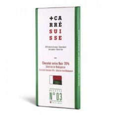 Tableta Chocolate Negro 70% Madagascar 100gr. Carré Suisse. 10 Unidades