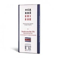 Tableta Chocolate Negro 75% Costa Rica 100gr. Carré Suisse. 10 Unidades