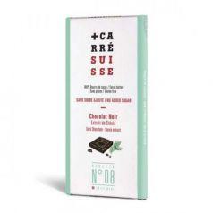 Tableta Chocolate Negro con Stevia 100gr. Carré Suisse. 10 Unidades
