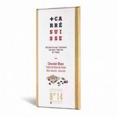 Tableta Chocolate Blanco & Nibs de Cacao 100gr. Carré Suisse. 10 Unidades
