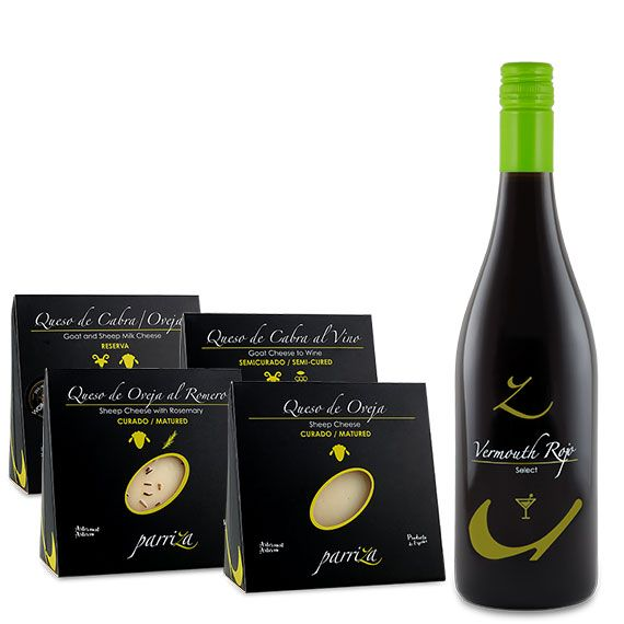 Pack Amantes del queso + Vermouth Rojo Select 15% vol.