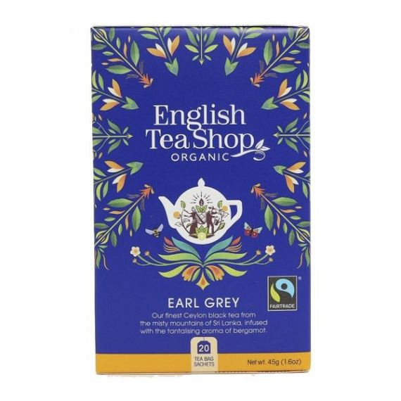 Té Earl Grey BIO 40gr. English Tea Shop. 6 Unidades