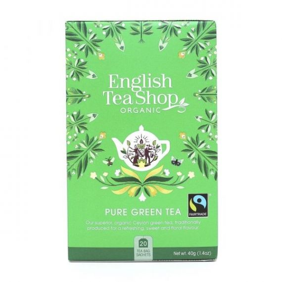 Té Verde BIO 40gr. English Tea Shop. 6 Unidades