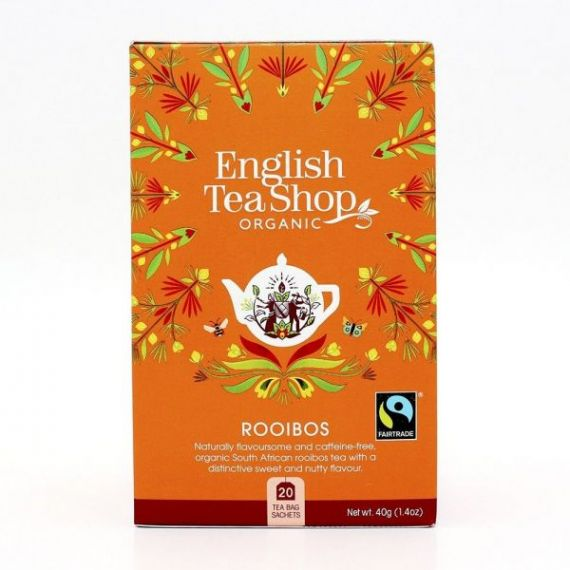 Té Rooibos BIO 40gr. English Tea Shop. 6 Unidades