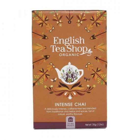 Té Negro Intenso Chai BIO 40gr. English Tea Shop. 6 Unidades