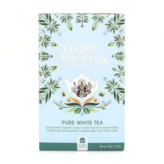 Té Blanco BIO 40gr. English Tea Shop. 6 Unidades