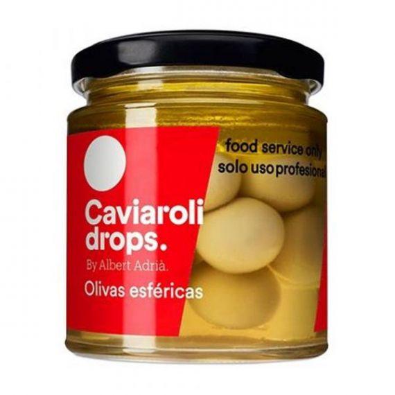 Oliva Picante Esférica Drops (18 olivas) 90gr. Caviaroli. 4 Unidades