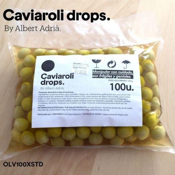 Oliva Verde Esférica Drops (100 olivas) 500gr. Caviaroli. 1 Unidades