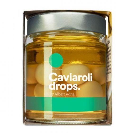 Oliva Verde Esférica Drops (12 olivas) 60gr. Caviaroli. 6 Unidades