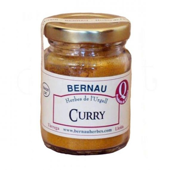 Curry molido 50gr. Bernau Herbes de l\'Urgell. 12 Unidades
