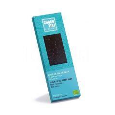 Chocolate Negro 70% Cacao con Flor de Sal de Ibiza 50g. Chocolate Orgániko. 10 Unidades