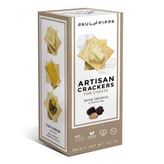 Artisan Crackers con Trufa 100gr. Paul & Pippa. 6un