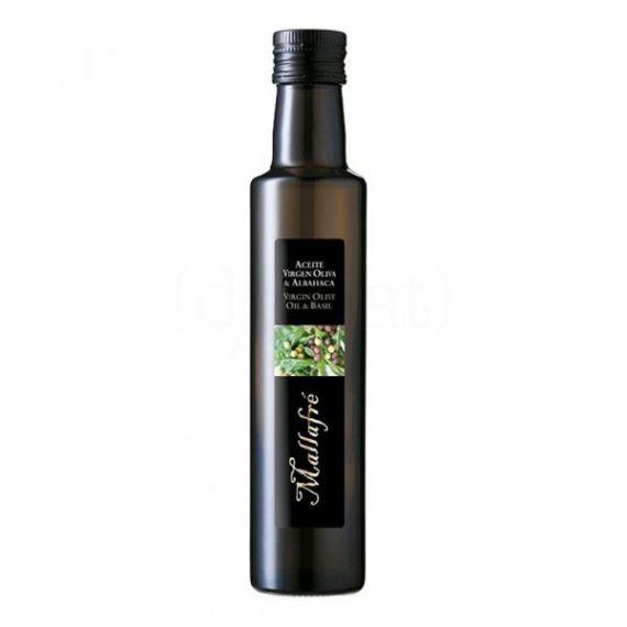 Aceite de oliva virgen con Albahaca 250ml. Mallafré. 12 Unidades