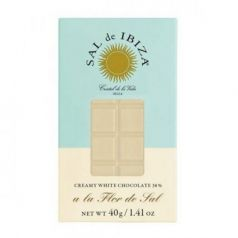Mini Chocolate Blanco con Flor de Sal Bio 40gr. Sal de Ibiza. 12 Unidades