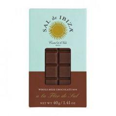 Mini Chocolate con leche y Flor de Sal Bio 40gr. Sal de Ibiza. 12 Unidades