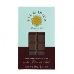 Mini Chocolate Negro con Flor de Sal 40gr. Sal de Ibiza. 12 Unidades