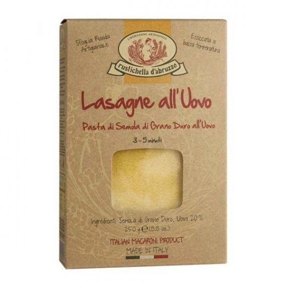 Lasagne all\'Uovo 250gr. Rustichella D\'abruzzo. 12 Unidades