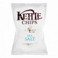 Patatas fritas con Sal Marina 150gr. Kettle Chips. 8 Unidades