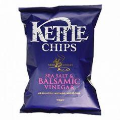 Patatas fritas con Sal y Vinagre Balsámico de Módena 150gr. Kettle Chips. 8 Unidades