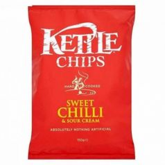 Patatas fritas Dulces y Picantes con Crema Agria 150gr. Kettle Chips. 8 Unidades