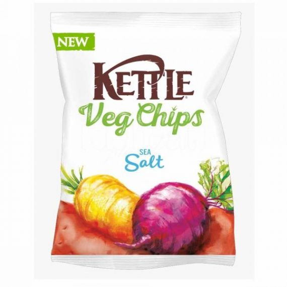Chips Vegetales fritos con Sal Marina 100gr. Kettle Chips. 10 Unidades