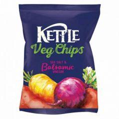 Chips Vegetales fritos con Sal y Vinagre Balsámico 100gr. Kettle Chips. 10 Unidades