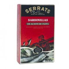 Sardinas en Aceite de Oliva (16-20 piezas) 118gr. Serrats. 12 Unidades