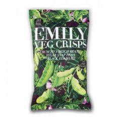 Chips de judias Verdes y Edamame 80gr. Emilly Crisps. 8 Unidades