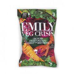 Chips de Verduras (Patata, Zanahoria y Remolacha) 23gr. Emily Crisps. 12 Unidades
