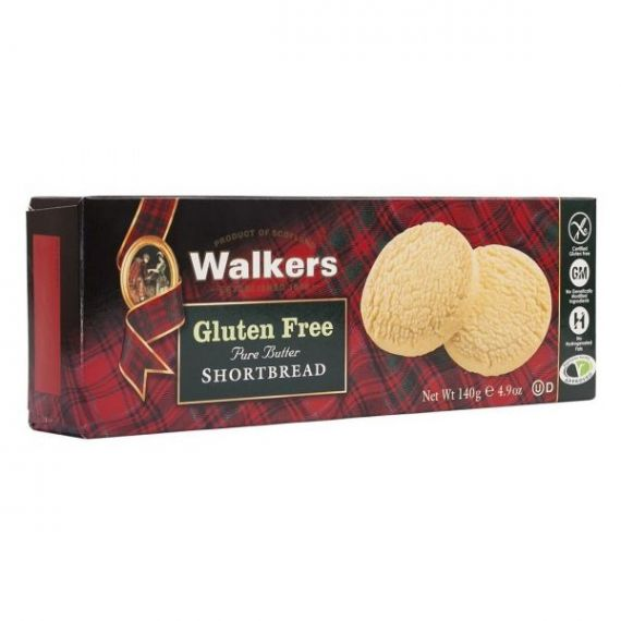 Shortbreads de Mantequilla Rounds (Sin Gluten) 140gr. Walkers. 12 Unidades