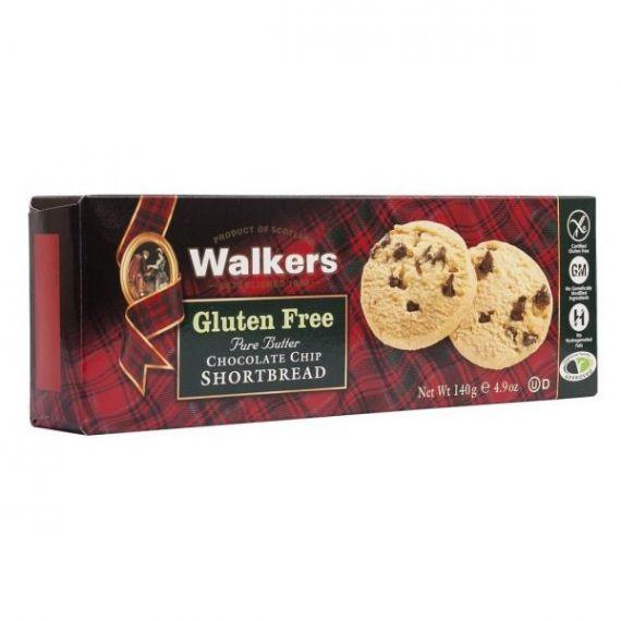 Shortbreads de Mantequilla y Chocolate (Sin Gluten) 140gr. Walkers. 12 Unidades