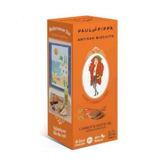 Galletas de Pastel de Zanahoria 100gr. Paul & Pippa. 6 Unidades