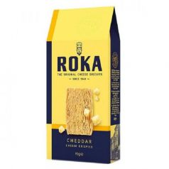 Crispies de Queso Cheddar 70gr. ROKA Cheese Crispies. 12 Unidades