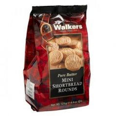 Shortbreads Rounds de Mantequilla Mini 125gr. Walkers. 12 Unidades