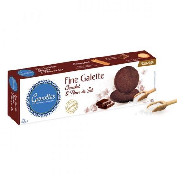 Galletas finas de Chocolate y Flor de Sal 120gr. Gavottes. 14un.