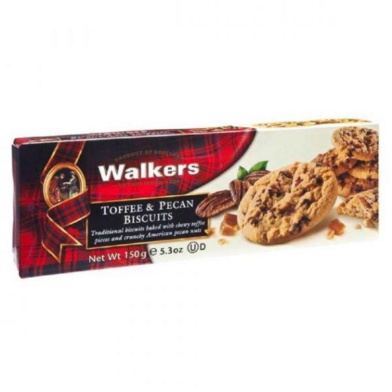 Biscuits de Caramelo y Nueces Pecanas 150gr. Walkers. 12 Unidades