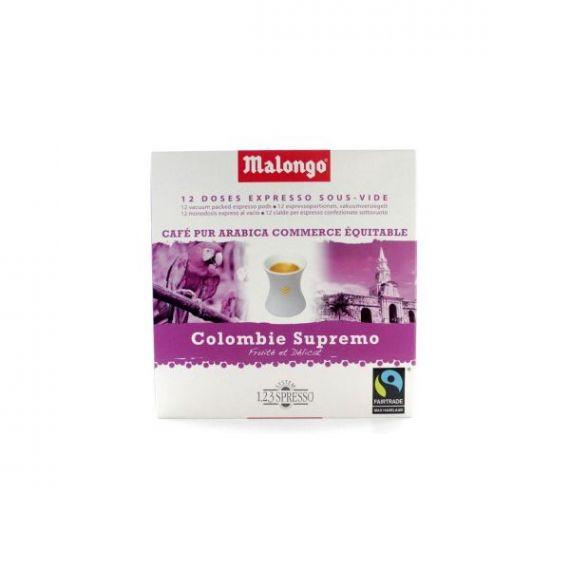 Colombia Supremo Monodosis (16 monodosis) 6,5gr. Café Malongo. 10 Unidades