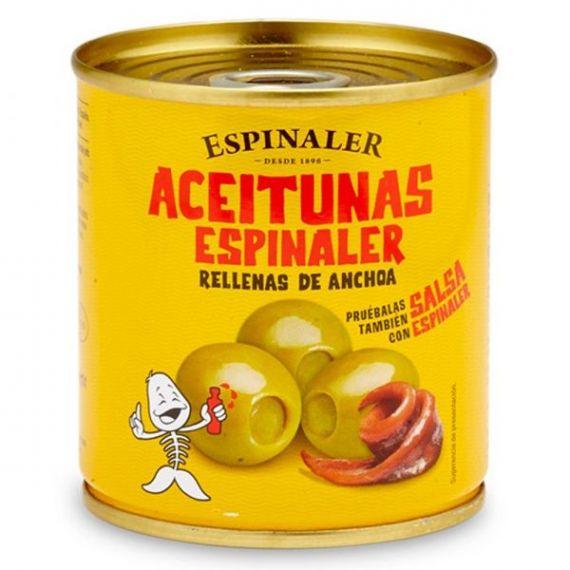 Aceitunas rellenas de anchoa 200gr. Espinaler. 30 Unidades