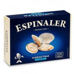 Almejas finas al natural RR-125 (11-15 piezas). Espinaler. 25un.