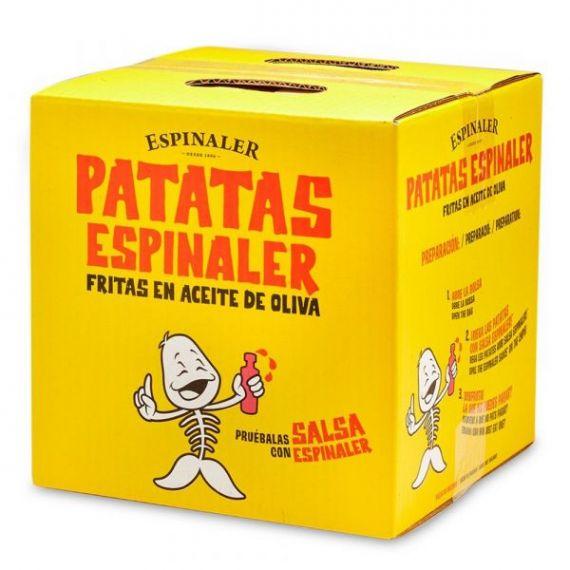 Patatas fritas (caja) 700gr. Espinaler. 1 Unidades