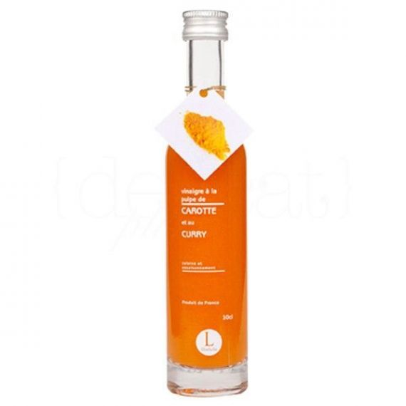 Vinagre de Pulpa de Zanahoria y Curry 10cl. Libeluile. 12 Unidades