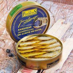 Sardinas en Aceite de Oliva 150gr (5-7 piezas). Los Peperetes. 12 Unidades