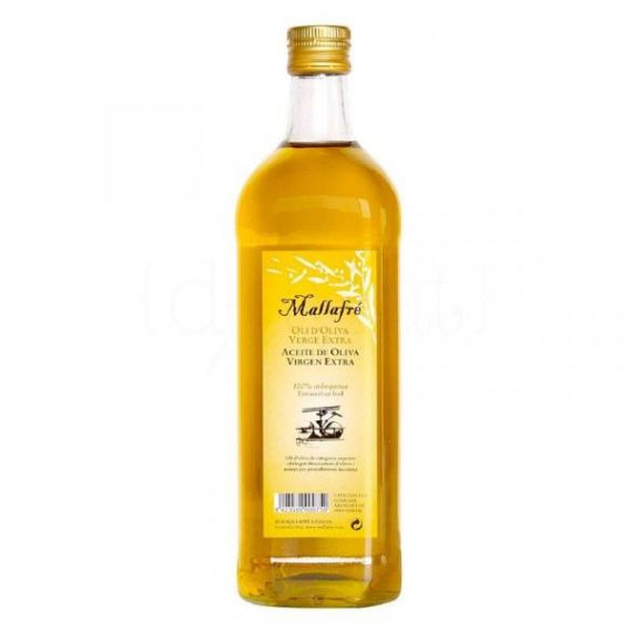 Aceite de Oliva Virgen Extra 750ml. Mallafré. 12 Unidades