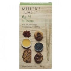 Tostaditas de Higos y Pasas 100gr. Miller's Toast. 6 Unidades