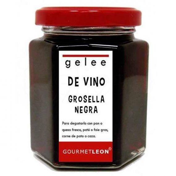 Gelée de vino con grosella negra 160ml. Gourmet Leon. 12 Unidades