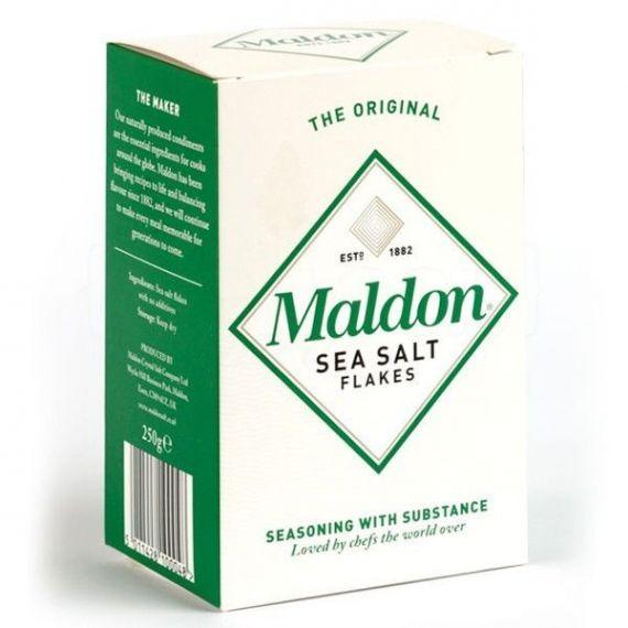 Escamas de sal Maldon 250gr. Sal Maldon. 12 Unidades